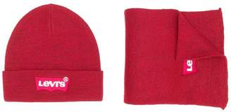 Levi's Kids knitted logo beanie & scarf