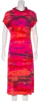 Raquel Allegra Tie-Dye Turtleneck Midi Dress