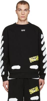 Off-White Black Diagonal Spray Pullover $470 thestylecure.com