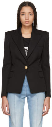 Balmain Black Single-Button Blazer