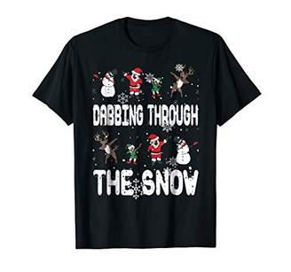 Dabbing Through The Snow Christmas Dabbing Santa Reindeer