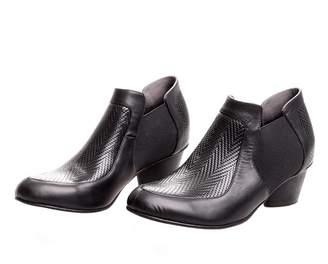 BA&SH Bottega Bash Black Leather Booties