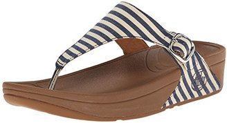 FitFlop Women's The Skinny Fabric Flip-Flop $90 thestylecure.com