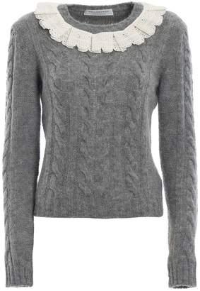 Philosophy di Lorenzo Serafini Philosophy Lace Collar Sweater