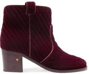 Laurence Dacade Woven Velvet Ankle Boots