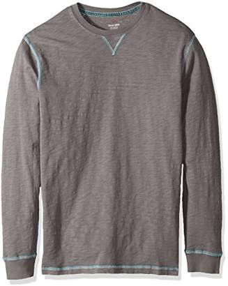 True Grit Men's Heritage Cotton Long Sleeve T-Shirts Contrast Stitch