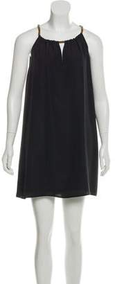 Neiman Marcus Cusp by Embellished Shift Dress