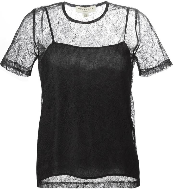 Burberry Burberry sheer lace top