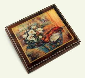 "Ercolano MusicBoxAttic Exquisite Wood Tone Musical Jewelry Box - ""Swan Melody"" by Lena Liu - Jack and Jill"
