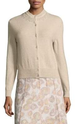 Marc Jacobs Embellished Wool& Cashmere Cardigan