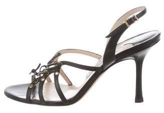 Jimmy Choo Leather Cage Sandals