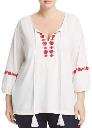 Junarose Plus Sacha Embroidered Peasant Top