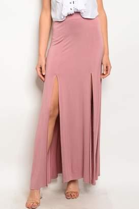 Ba Bel Mauve Maxi Skirt