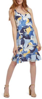Nic+Zoe Sun Seeker V-Neck Sleeveless Ruffle-Hem Dress