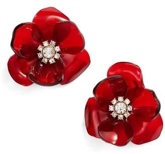 Kate Spade Slice Of Stone Flower Stud Earrings