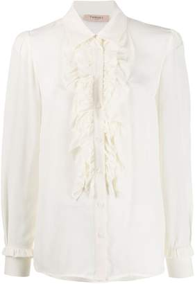 Twin-Set ruffle trim blouse