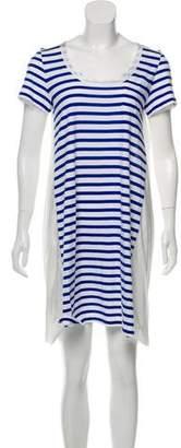 Sacai Luck Striped Short Sleeve Dress