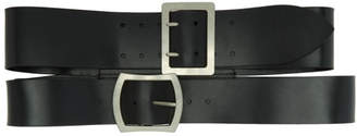 Ann Demeulemeester Black Elbamatt Double Corset Belt