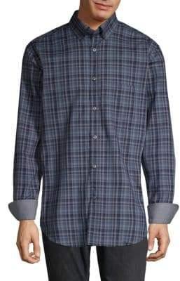 Paul & Shark Plaid Cotton Button-Down Shirt