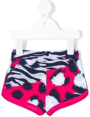 Kenzo tiger stripes print shorts