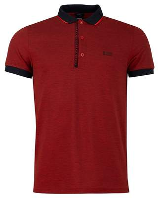 BOSS Paule 4 Placket Logo Polo Colour: BLACK AND RED, Size: SMALL