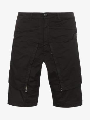 Stone Island Shadow Project cotton blend gabardine cargo shorts