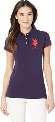 U.S. Polo Assn. Women's Contrast Patch Polo Shirt