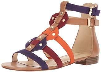Nine West Women's NWIRVETTE3 Gladiator Sandals, Multicolour (Dk Caramel/Ultra Violet/Russet/ Trop CU)