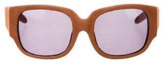 Alexander Wang x Linda Farrow Suede Oversize Sunglasses