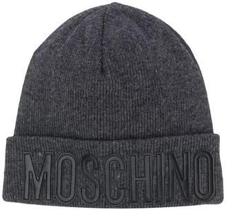Moschino rolled logo beanie