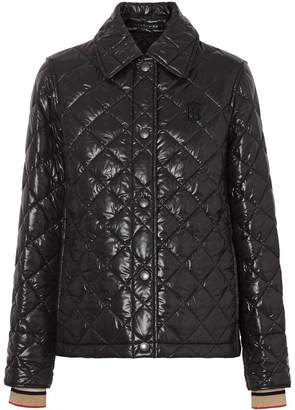 Burberry Monogram Motif Diamond Quilted Jacket