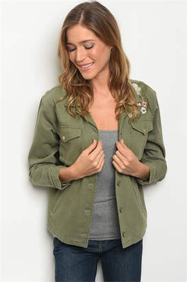 Roly Poly Olive Embroidered Jacket