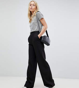 Asos Tall DESIGN Tall wide leg pants with pleat detail