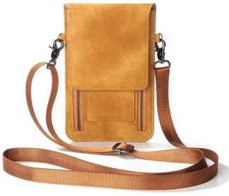 JUNMENG Double Zipper Small Crossbody Cell Phone Purse Wallet Bags For Women