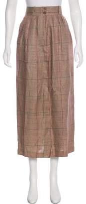 Dries Van Noten Plaid Midi Skirt