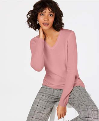 Charter Club Macy Pure Cashmere V-Neck Sweater