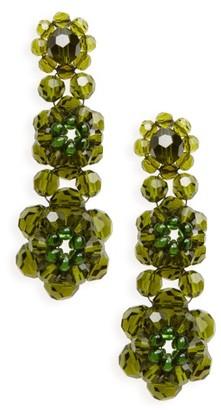 Women's Simone Rocha Tiered Crystal Drop Earrings $340 thestylecure.com