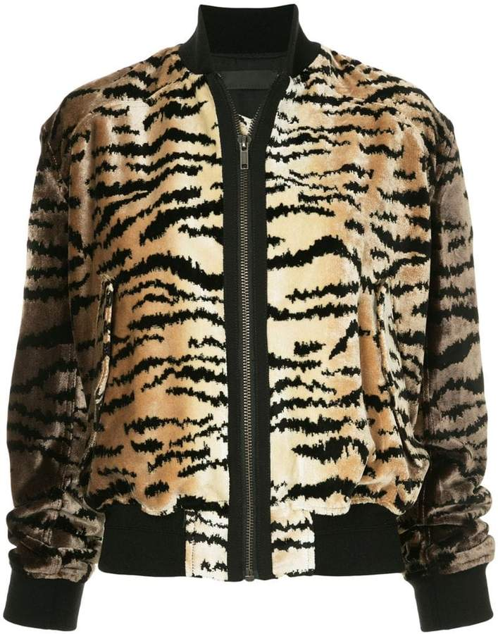 tiger stripe bomber jacket