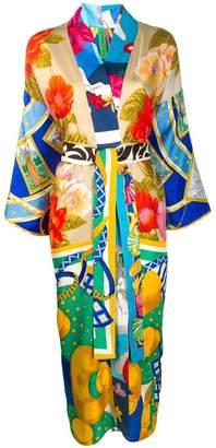 Rianna + Nina wrap kimono dress