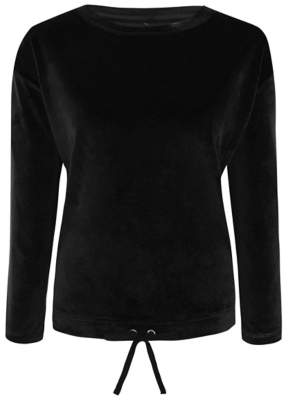 George Black Velour Long Sleeve Loungewear Top