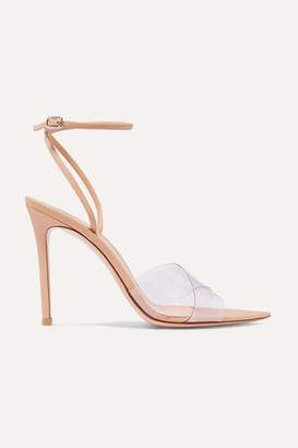 Gianvito Rossi Stark 105 Leather And Pvc Sandals - Neutral