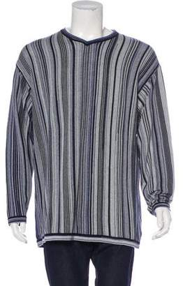 Kenzo Striped V-Neck Sweater