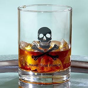Skull & Crossbones Double Old Fashioned Glasses, Set of 4