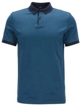 BOSS Hugo Mercerized Cotton Polo Shirt, Slim Fit Penrose XXL Dark Blue