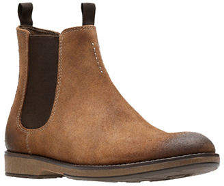Clarks Hinman Suede Chelsea Boots