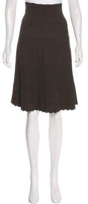 Chanel Knit A-Line Skirt