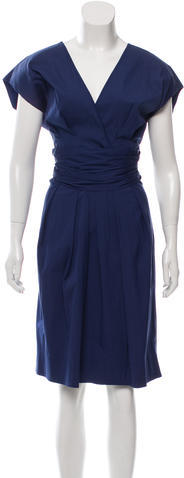 pradaPrada Gathered Belted Dress