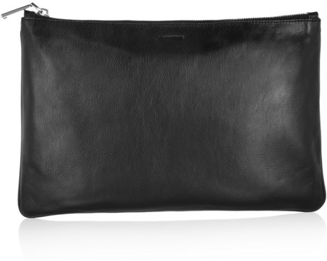 Jil Sander Medium leather clutch