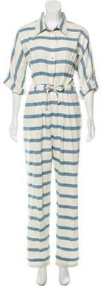 Mara Hoffman Striped Button-Up Jumpsuit w/ Tags Striped Button-Up Jumpsuit w/ Tags