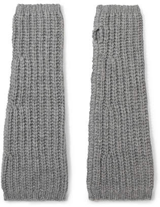 Johnstons of Elgin Cashmere Fingerless Gloves - Gray
